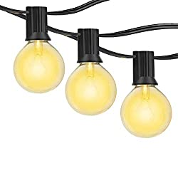 Boxlood G40 Outdoor Led String Lights 10 Hanging E26 Socket With 12 X G40 Glass Edison Globe Bulbs 2 Spares Cozy Warm White Water Proof 18ft String Light Party Light Bbq Wedding Holiday