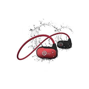 Auriculares Natación Waterproof waveport con almacenaje integrado 8 GB & Bluetooth- rojo