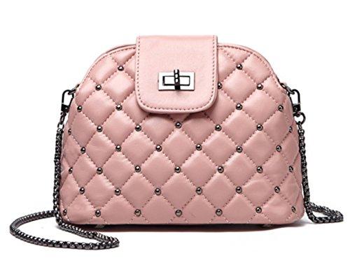 Retro Shoulder Bag Lady Fashion Leisure Waterproof Shoulder Bag Pink