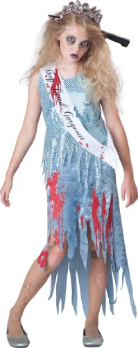 InCharacter Costumes Junior's Homecoming Horror Queen Costume, Blue, Medium(10-12)