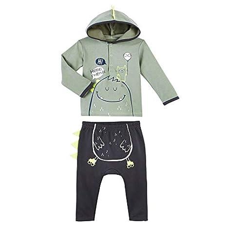 5d08afd38317d Petit Béguin - Ensemble bébé garçon en molleton Hello Monster - Taille - 9  mois