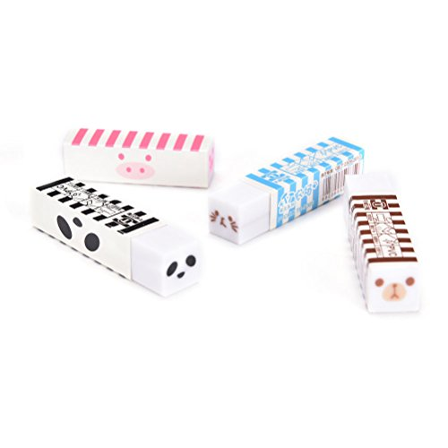 1Pc Cute Kawaii Korean Stationery Long Strip Rubber Pencil Animal Eraser - Centre Shopping Florence