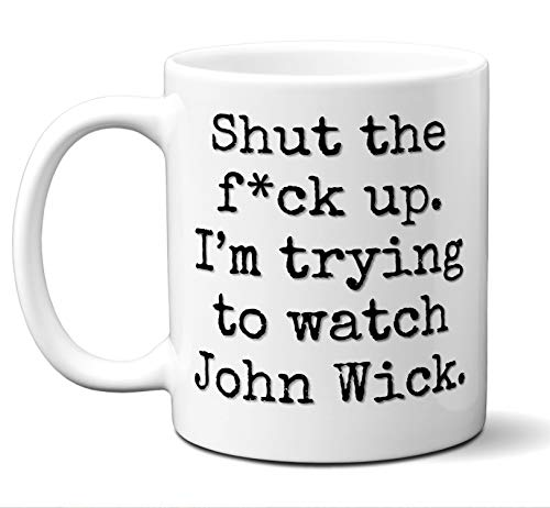 John Wick Gift Mug. Funny Parody Movie Lover Fan