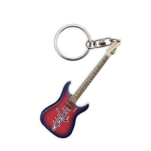 sportsvault NHL Washington Capitals Guitar Keychain, Red, 6