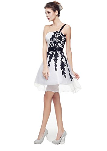 Dresses Appliques Coral Women's Bridal Homecoming Short Dress Shoulder Anna's Prom One FEY1wnfq