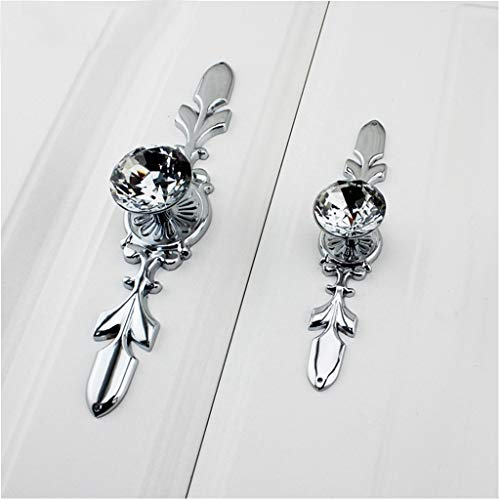Fvstar 10pcs Cabinet Handles Crystal Glass Drawer Pull Diamond Dresser Knobs with Plate and Screws,Cupboard Wardrobe Handles for Living Room Kitchen Bedroom by Fvstar (Image #7)