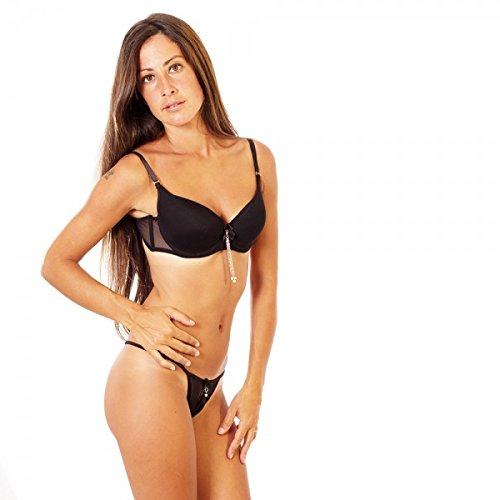 Besame – Besame conjunto lencería Fine sujetador y tanga 3263 color – , talla – 85