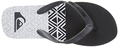 Quiksilver Herren Molokpanelblock Athletic Sandale Grau / Schwarz / Weiß