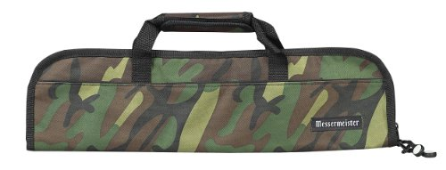 - Messermeister 5-Pocket Heavy Duty Nylon Padded Knife Roll, Luggage Grade and Water Resistant, Camouflage
