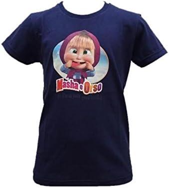 MASHA E ORSO T-Shirt Maglietta Bimba R21195 Maglia Manica Corta