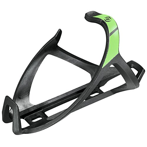 Entry Cage Side (Syncros Tailor Cage 2.0 Left Bicycle Water Bottle Cage - 250591 (Black/neon Green))