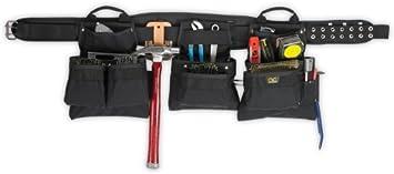 Custom Leather Craft 5605 18 Pocket 5-Pc Pro Carpenters Tool Work Belt
