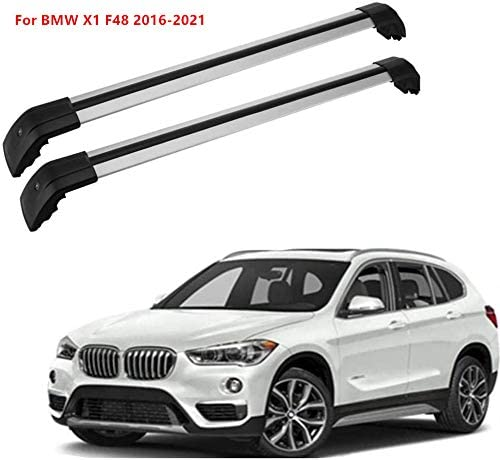 MotorFansClub Roof Rack Cross Bars Fit for Compatible with BMW X1 F48 2016-2021 Crossbars Luggage Rack Top Cargo Rack