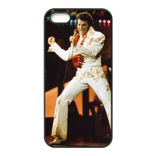 Elvis Presley 002 coque iPhone 4 4S Housse téléphone Noir de couverture de cas coque EOKXLLNCD16844