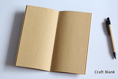 Bullet Journal Notebook Dot Grid Sheets - Standard Pocket Kraft Paper Dots Blank Good for Traveler's Refill Planner Organizer Filler Paper (Pocket Book, Craft Book)