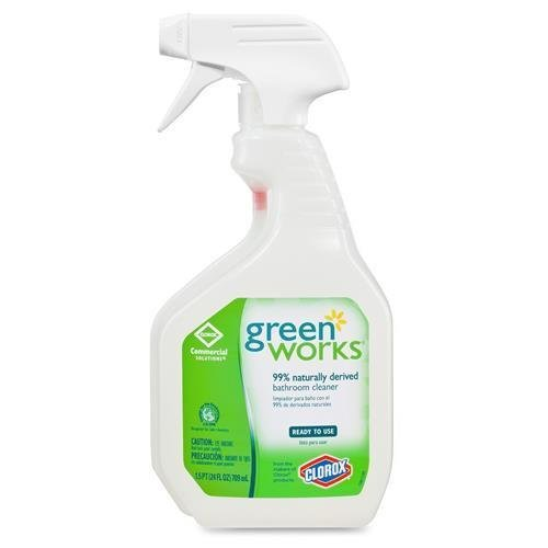 Green Works 00452CT Bathroom Cleaner, 24oz Spray Bottle (Case of 12 bottles)