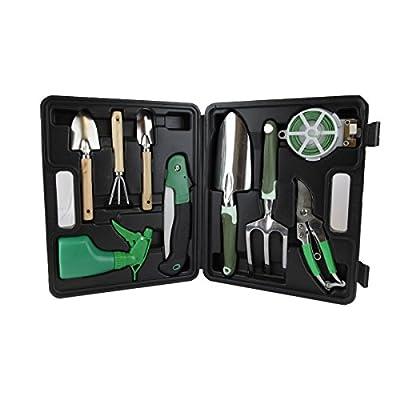 9-Piece Premium Garden Tool Set Durable Gardening Hand Tool Set, Ergonomic Design, Soft Touch Handles