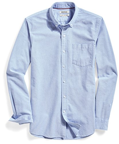"Goodthreads Men's ""The Perfect Oxford Shirt"" Slim-Fit Long-Sleeve Solid with Pocket, Blue, Large"