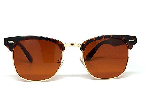 01e06d471dd Blue Blocking Driving Sunglasses Amber Tinted Lens (Half Frame  Tortoise Gold) - Buy Online in Oman.
