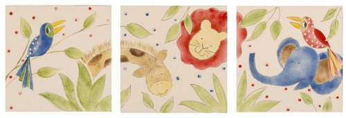 Cotton Tale Designs Animal Tracks Wall Art, 3-Piece - Animal Tracks Wall Art