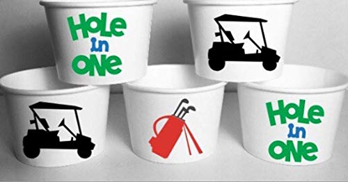Golf Party Snack Treat Cups Set of 12 ()
