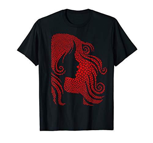 (Red Hearts Woman Hair Valentine's Hairdresser Stylist Gift)