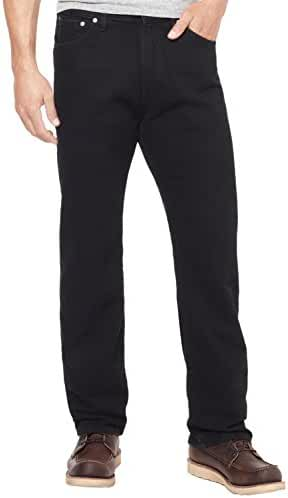 Nautica Jeans Men's Relaxed Cross-Hatch Jean (30 x 30, True Black)
