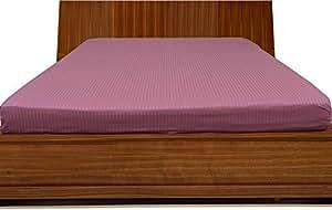 Brightlinen Onion Pink Emperor (215 X 215 Cm) Fitted Sheet Stripe (pocket Size: 22 Cm) 1pcs