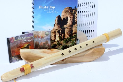 Native American Style Windpony Key of G, 6-hole Poplar Native American Style Flute, Book & 3 Cds Starter Set (Retail Value $119.95) - Books and Cds