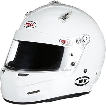 Bell 1419005 M8 WHITE LRG (60-61) SA2015 BELL HELMET