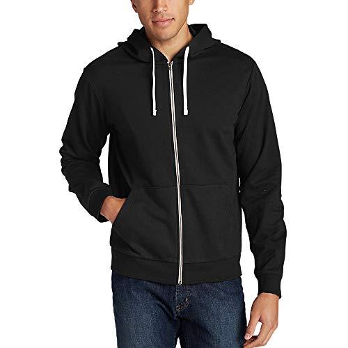 Eddie Bauer Men's Camp Fleece Full-Zip Hoodie, Black Regular M