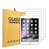 [3 Pack] KIQ Premium Tempered Glass Screen Protector for iPad 9.7 5th 6th Gen 2017 2018 - iPad Air 1st 2nd Gen - iPad Pro 9.7 - 9H Hardness 0.30mm - Real Glass - Ultra-Clear - Anti-Scratch - Self-Adhere