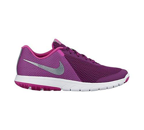 Nike Mujeres Flex Experience Rn 5 Zapatillas Running Bright Grape / Mtlc Cool Gray / Fire Pink