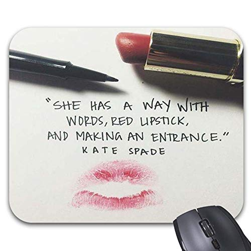 She Has A Way with Words Red Lipstick Mouse Pads 9.86 x 7.87