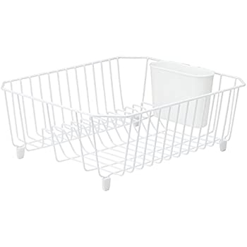 rubbermaid antimicrobial dish drainer small white dish racks kitchen dining. Black Bedroom Furniture Sets. Home Design Ideas