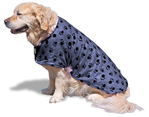 SeaDog Pro Dog Drying Towel Jacket. Microfiber lining absorbs water. Fleece outer keeps your pet warm. Super Fast Drying! Best coat for after bath, swim, wet walks or beach trips. Comfy Secure Fit Soggy Paws Towel