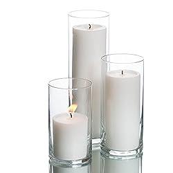 Richland Set of 36 Glass Eastland Cylinder Vases a