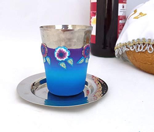kiddush Cup, Wine Goblet Judaica Handmade Art will suit as Shabbat, Wedding and Bar Mitzvah Gift