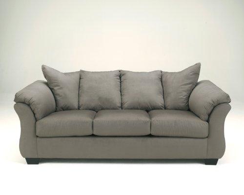 Flash Furniture Signature Design by Ashley Darcy Sofa in Cobblestone Microfiber