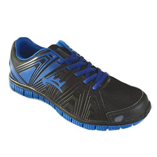 Magnus- Herren Sportschuhe Sneaker Freizeit - Schuhe - Größe 40-45 Neu Schwarz / Blau