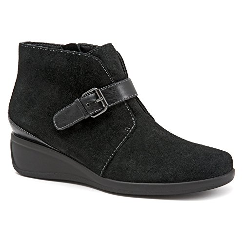 Trotters Women's Mindy Black Cow Suede Leather Boot 9 M (Black Cow Suede Footwear)