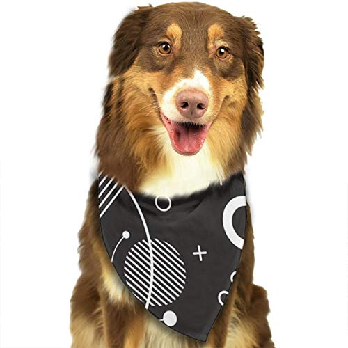 FRTSFLEE Dog Bandana Black Element Graph Scarves Accessories Decoration for Pet Cats and Puppies