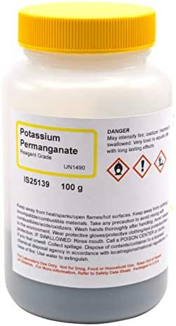 Potassium Permanganate Reagent, 100g - The Curated Chemical Collection