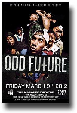 amazon odd futureポスター concert flyer 11 x 17 tyler the