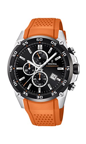 Festina Chrono F20330/4 The Originals Watch orange silicone strap