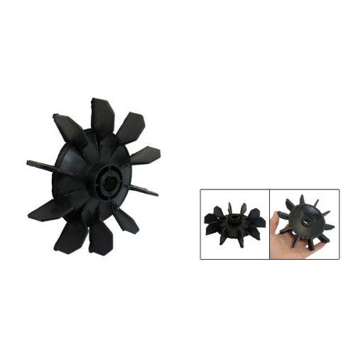 TOOGOO R Hoja del ventilador de motor de diez palas 14mm diametro interno plastico negro Pieza del compresor de aire