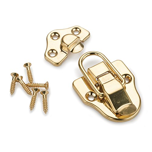 Plated Trunk - HIGHPOINT Trunk Draw Catch Polished Brass Plated 1-piece with Screws
