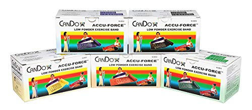 FEI 10-5918 Cando Accuforce Low-Powder Exercise Band Set, Shape) ()