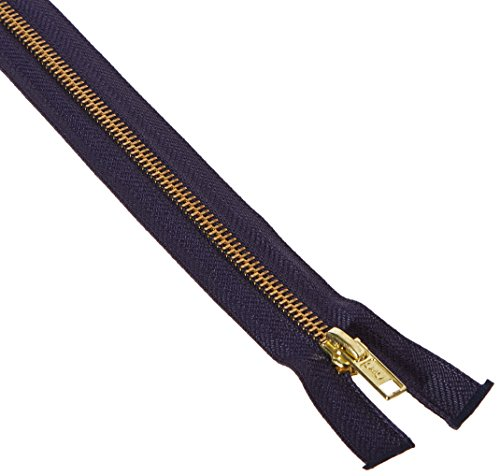 COATS & CLARK F25 24-13 Heavyweight Brass Separating Metal Zipper, 24