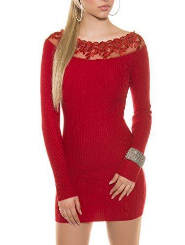 KouCla - Vestido - para mujer Rojo